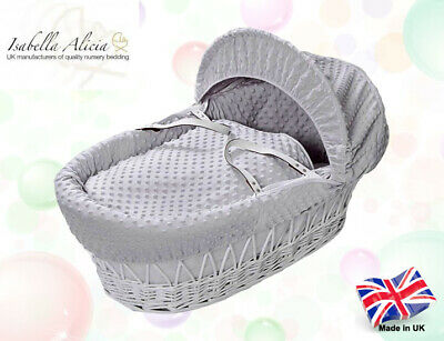 Isabella Alicia Super Soft Replacement Grey Dimple Moses Basket Dressing .