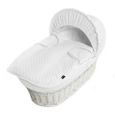 Isabella Alicia Super Soft Replacement white Dimple Moses Basket Dressing .