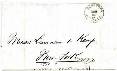 1876. US post in Cuba. From Santiago to New York