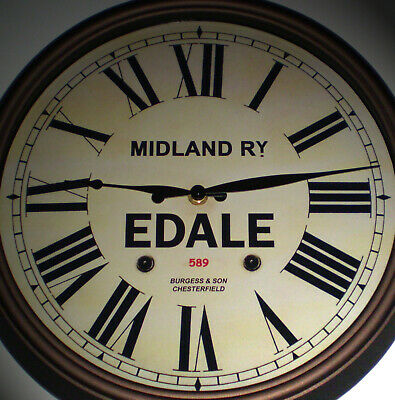 Midland Railway, MR Victorian Style Wall Clock, Edale Station.