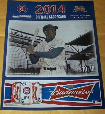 2014 Chicago Cubs Official Scorecard Vs. Washington Nationals - Scored - 6/2014