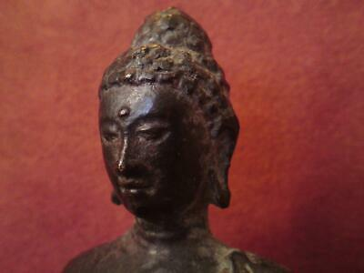 Antique Bronze Figure Shakyamuni Buddha Indian / Himalayan / South East Asian