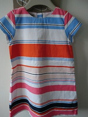 Next girl summer party holiday striped dress 2-3 years great condition