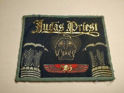 Judas Priest Vintage Circa 1981 Embroidered Woven Colth Sewing Sew On Patch