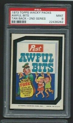 Wacky Packages 1973 Awful Bits Psa 9 Mint Wonder Bread Version Only 2None Higher