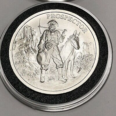 Prospector & Donkey Collectible Coin 1 Troy Oz .999 Fine Silver Round Medal 999