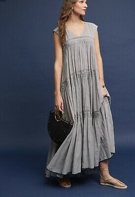 805313c07396a NWT ANTHROPOLOGIE CYDNEY TIERED BEADS EMBELLISHED MAXI DRESS by ...