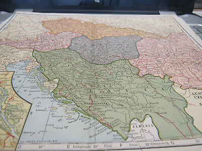 1921 Original Antique AUSTRIA, HUNGARY, CZECHO-SLOVAKIA, ROUMANIA, AND JUGO-SLA