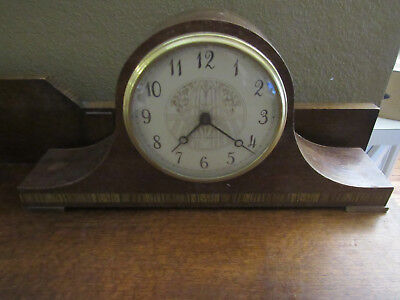 Vintage Seth Thomas Tambour Mantel / Shelf Clock A300-033