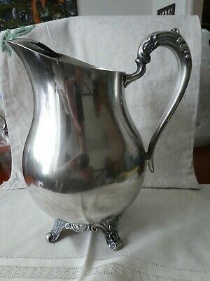 Antique Vintage Newport Gorham Silverplated Water Pitcher