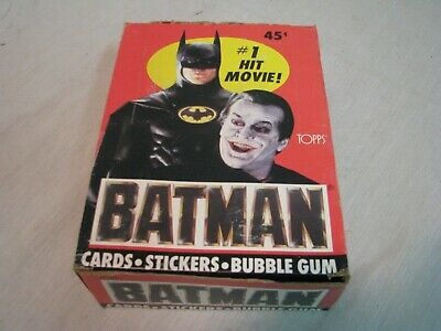 Batman Trading Cards 1989 Edition 35 Packs  9 Cards Per Pack 1 Sticker And Gum