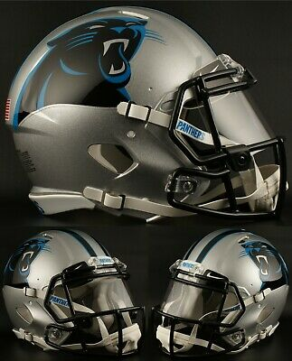 0659496d CAROLINA PANTHERS NFL Riddell SPEED Full Size Authentic Football Helmet