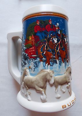 Budweiser 2005 Holiday Beer Stein CS628 w/Box & Certificate of Authenticity