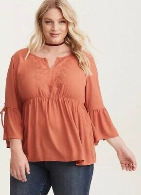 dc51bc5daf NEW TORRID GRAY Tiered Sleeve Blouse Womens Plus Size 1X NWOT Style ...