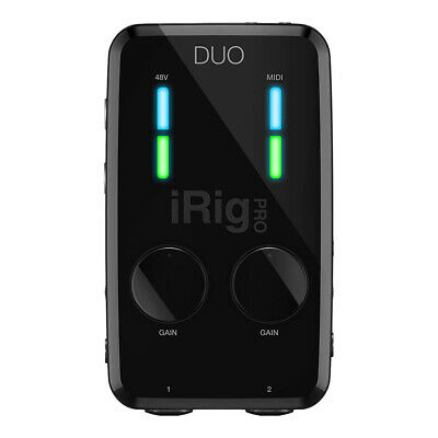 IK Multimedia iRig Pro Duo Dual Input Interface For Iphone, Ipad, Android