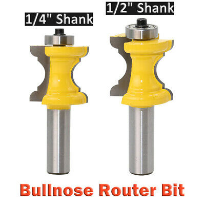 Bullnose Bead Column Face Molding Router Bit 1/2, 1/4in Shank Woodworking Cutter