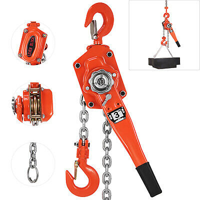 3 Ton 3M Lever Block Chain Hoist Puller Pulley Mining Crane Lifting Hook NEWEST