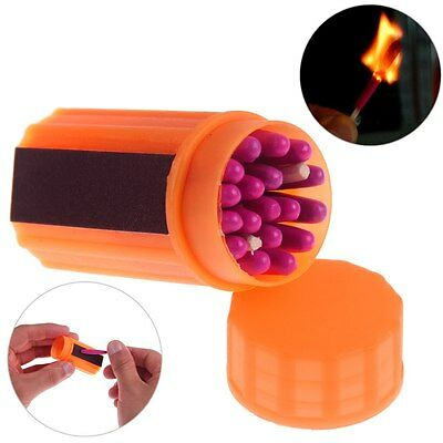 Portable WindProof Storm Matches Emergency Survival Tool Camping Hiking Gear Kit
