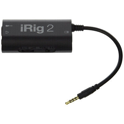 IK Multimedia iRig 2 Analog Guitar Interface For Ios, Mac And Android