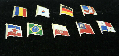 Lot of 9 NATIONAL COUNTRY FLAG LAPEL / PIN BADGE