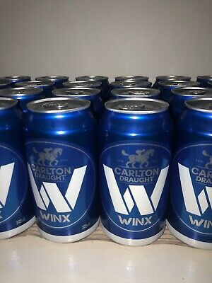 WINX 'Limited Edition' Carlton Draught Beer Can (Empty At The Bottom)