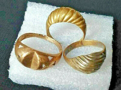 Ancient Vintage Roman Rings Bronze Stunning artifact rare type Lot Of 3 Rings