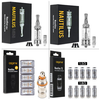 Per Aspire Nautilus Tank 5ml/Mini Tank 2ml Adjustable Airflow con BVC Coils