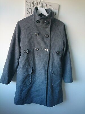 Zara girl wooly grey coat 13-14 years excellent condition