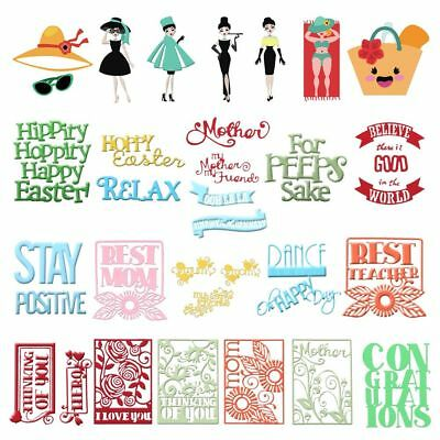 Mother's Day Metal Cutting Dies Stencil Scrapbook Paper Cards Craft DIY Die-Cut