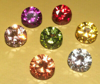 CUBIC ZIRCONIA AAAAA LOOSE STONES VARIOUS COLOURS 12mm Round BEST QUALITY