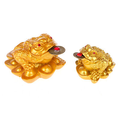 Feng Shui Money Lucky Fortune Oriental Chinese Wealth Frog Toad Coin Decoration
