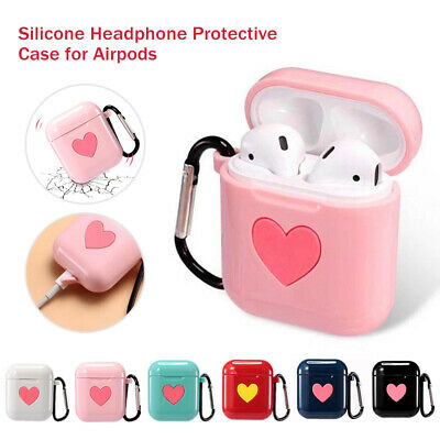 Love Cartoon Silicone Earphone Case Protective Cover Ring Skin For