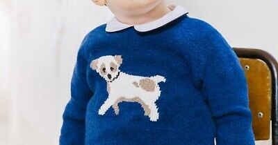 Trotters Puppy Blue Jumper 18-24 Months Prince Louis 1st Birthday 18/24M BNWT