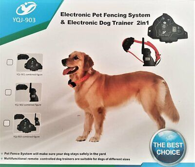 2-in-1 Electric Dog Fence & Remote Dog Training Rechargeable Collar