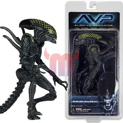 "NECA Grid Alien AVP Xenomorph Aliens vs Predator 7"" Action Figure Series 7 AAA"