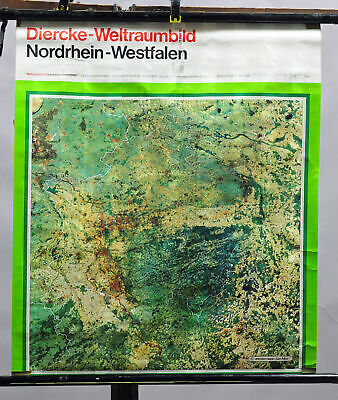 traditional wall chart poster map North Rhine-Westphalia Germany Space Picture