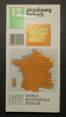 Institut Geographique National Strasbourg Forbach  1989