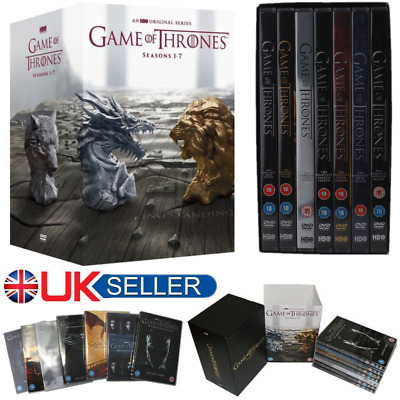 UK Game Of Thrones DVDs Complete Season 1-7 Set Sealed Boxed Gift 1 2 3 4 5 6 7