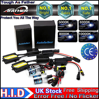 H7 XENON HID CONVERSION Headlights KIT Canbus ERROR FREE w/ Metal Based Ballast