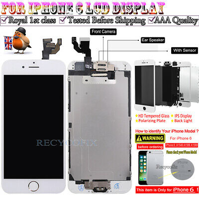 For iPhone 6 Retina LCD Screen Replacement Touch Digitizer Camera Button White