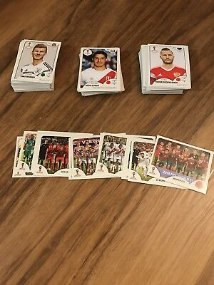 2018 World Cup Stickers Russia Panini FIFA (Pick any 10 stickers)