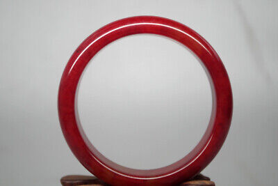 Collectible Chinese Rare Old Natural red blood jade handwork child bangle Tg-021