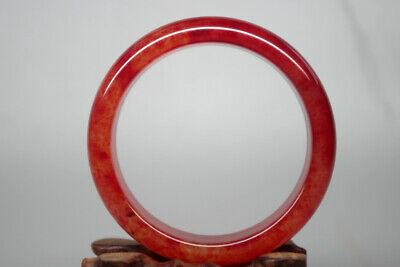 Collectible Chinese Rare Old Natural red blood jade handwork child bangle Tg-024