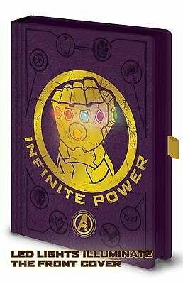 Avengers Infinity War Gauntlet LED A5 Premium Notebook Stationery NEW