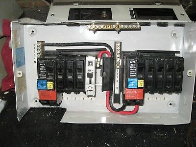 Square D Complete Fuse Box In Working Order  Residual Current Circuit Breaker