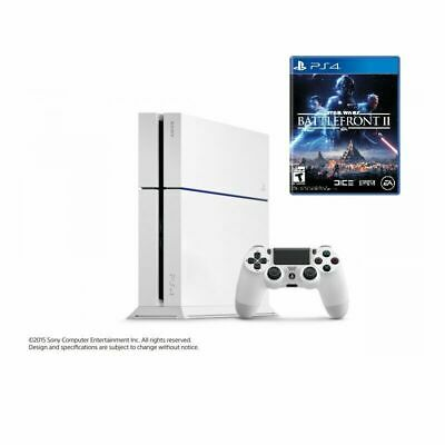 Sony PlayStation 4 Original PS4 500GB White Console + Battlefront II Bundle