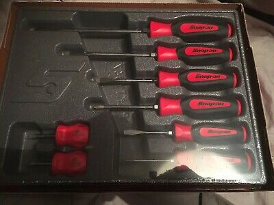 Snap On Tools Instinct Soft Grip Screwdrivers Red 8 Piece SGDX80BR