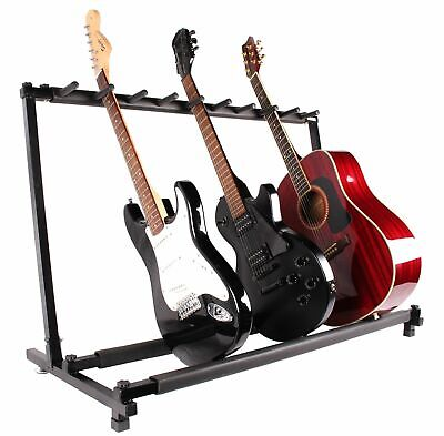 Guitar Stand 9 Holder Guitar Folding Stand Rack Band Stage Bass Acoustic NEW