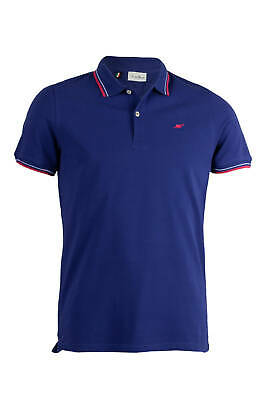 Polo uomo made in Italy in cotone piquet royal Regular fit
