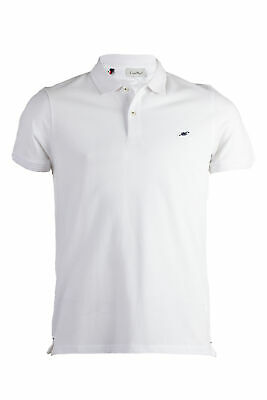 Polo uomo made in Italy in cotone piquet bianco Regular fit